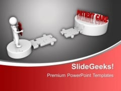 3d Men And Puzzle With Word Patient Care Medical PowerPoint Templates Ppt Background For Slides 1112