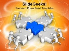 3d Men Arranging Puzzle Pieces Business PowerPoint Templates Ppt Backgrounds For Slides 0813