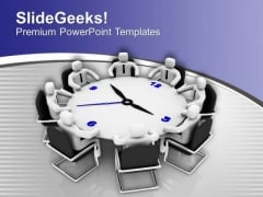 3d Men In Meeting Business Planning PowerPoint Templates Ppt Backgrounds For Slides 0213