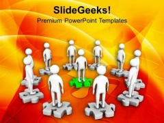 3d Men On Puzzle Meeting Success PowerPoint Templates Ppt Backgrounds For Slides 0213