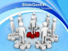 3d Men On Puzzles Team Work Finance PowerPoint Templates Ppt Backgrounds For Slides 0113
