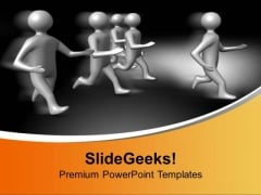 3d Men Running Competition PowerPoint Templates Ppt Backgrounds For Slides 0113