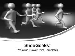 3d Men Running Leadership PowerPoint Templates Ppt Backgrounds For Slides 1112
