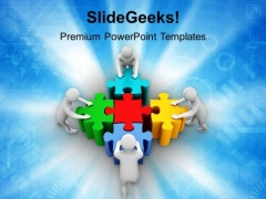 3d Men Team Work PowerPoint Templates And PowerPoint Themes 1012
