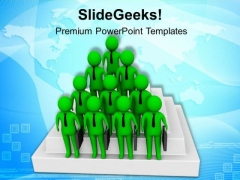 3d Men With Briefcase Standing On Stairs PowerPoint Templates Ppt Backgrounds For Slides 0813