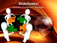 3d Men With Puzzle Pieces Jigsaw PowerPoint Templates And PowerPoint Themes 1012