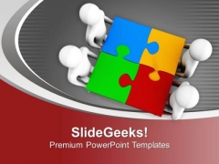 3d Men With Puzzle PowerPoint Templates Ppt Backgrounds For Slides 0713