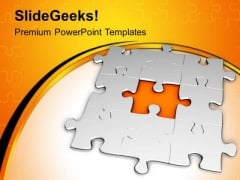 3d Missing Jigsaw Puzzle Strategy PowerPoint Templates Ppt Backgrounds For Slides 0413