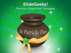 3d Pot St Patricks Day Festival PowerPoint Templates Ppt Backgrounds For Slides 0313