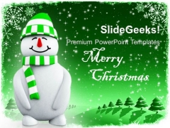 3d Smiling Snowman Holidays PowerPoint Templates Ppt Backgrounds For Slides 1112