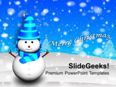 3d Snowman Holidays PowerPoint Templates Ppt Backgrounds For Slides 1112