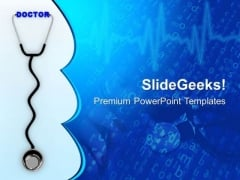 3d Stethoscope With Doctor PowerPoint Templates Ppt Backgrounds For Slides 0813