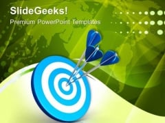 3d Target Board With Target Arrows PowerPoint Templates Ppt Backgrounds For Slides 0313