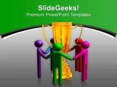 3d Team Enjoying Success Competition PowerPoint Templates Ppt Backgrounds For Slides 0413
