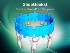 3d Team Partnership Business Concept PowerPoint Templates Ppt Backgrounds For Slides 0413