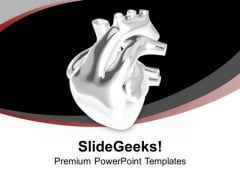 3d View Of Human Heart Health PowerPoint Templates Ppt Backgrounds For Slides 0413