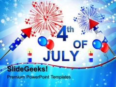 4th July Celebrations Fireworks PowerPoint Templates And PowerPoint Themes 0612