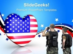 4th July Us Flag In Heart Americana PowerPoint Templates And PowerPoint Themes 0712