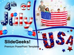 4th Of July Usa Family PowerPoint Templates And PowerPoint Themes 0612
