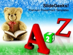 A To Z Education Children PowerPoint Templates And PowerPoint Themes 0812