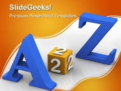 A To Z Education PowerPoint Backgrounds And Templates 1210