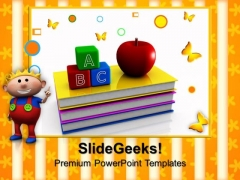 Abc Blocks And Apple Education PowerPoint Templates And PowerPoint Themes 0912