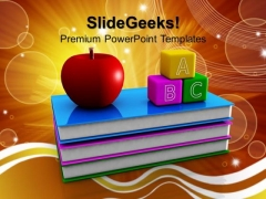 Abc Blocks And Books Education PowerPoint Templates And PowerPoint Themes 1012