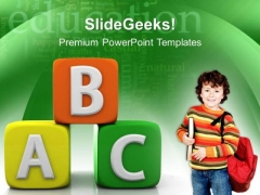 Abc Blocks Education PowerPoint Templates And PowerPoint Themes 0512