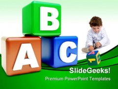 Abc Colored Blocks Education PowerPoint Templates And PowerPoint Backgrounds 0511