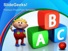 Abc Cubes Education PowerPoint Templates And PowerPoint Themes 0512