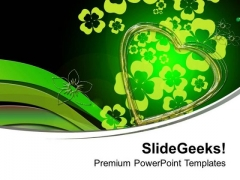 Abstract Background Design With Green Color PowerPoint Templates Ppt Backgrounds For Slides 0613