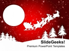 Abstract Background Of Santa Sleigh Holidays PowerPoint Templates Ppt Backgrounds For Slides 1112