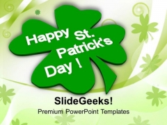 Abstract Background Of St Patricks Day PowerPoint Templates Ppt Backgrounds For Slides 0313