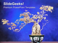Abstract Background With Bonsai Plant PowerPoint Templates Ppt Backgrounds For Slides 0613