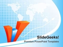 Abstract Bar Graph Business PowerPoint Templates And PowerPoint Backgrounds 0811
