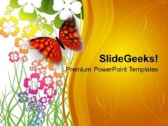 Abstract Design With Butterfly Graphics PowerPoint Templates Ppt Backgrounds For Slides 0613