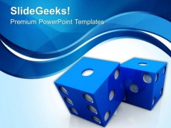 Abstract Design With Dice For Casino Theme PowerPoint Templates Ppt Backgrounds For Slides 0513