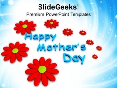 Abstract Flowers And Happy Mothers Day PowerPoint Templates Ppt Backgrounds For Slides 0513