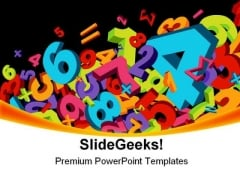 Abstract Numbers Education PowerPoint Themes And PowerPoint Slides 0411