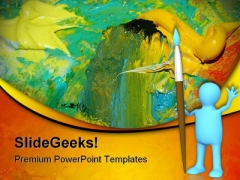 Abstract Oil Painting Art PowerPoint Themes And PowerPoint Slides 0511