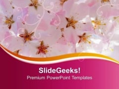 Abstract Pink Floral Background PowerPoint Templates Ppt Backgrounds For Slides 0413