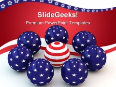 Abstract Spheres Americana PowerPoint Templates And PowerPoint Backgrounds 0311