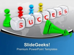 Achieve Success By Teamwork PowerPoint Templates Ppt Backgrounds For Slides 0413
