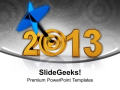 Achieve The All Target This New Year PowerPoint Templates Ppt Backgrounds For Slides 0513