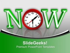 Act Now This Is The Right Time PowerPoint Templates Ppt Backgrounds For Slides 0613