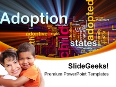 Adoption Family PowerPoint Templates And PowerPoint Backgrounds 0511