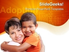 Adoptive Child Family PowerPoint Themes And PowerPoint Slides 0511