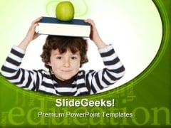 Adorable Child Studying01 Education PowerPoint Backgrounds And Templates 1210