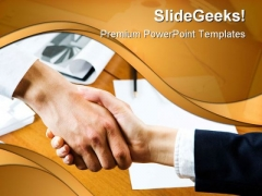 Agreement Business Handshake PowerPoint Templates And PowerPoint Backgrounds 0511
