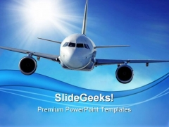 Airplane Transportation PowerPoint Templates And PowerPoint Backgrounds 0511